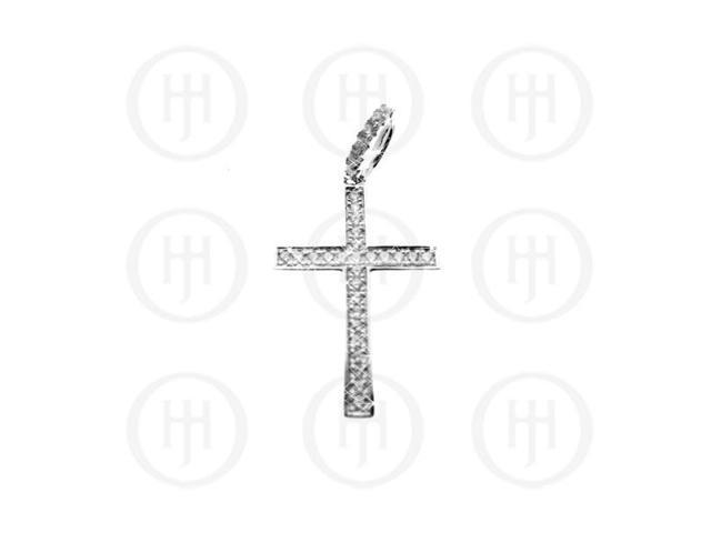 Sterling Silver Religious Cut-out Cross Pendant