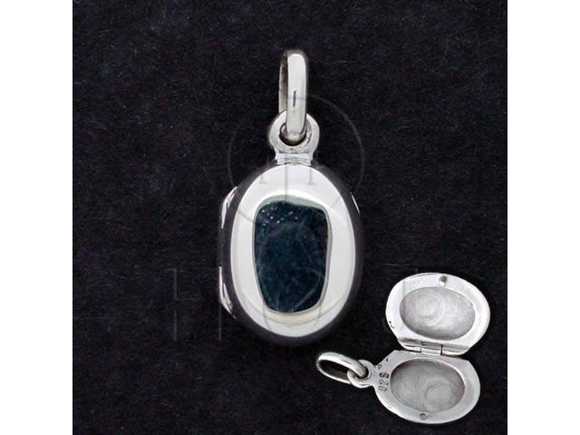 Sterling Silver Locket Oval 10x15mm