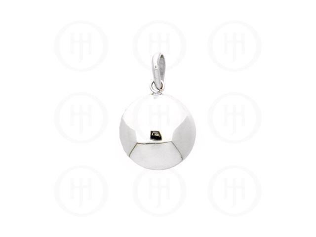 Sterling Silver Puffed Circle Pendant