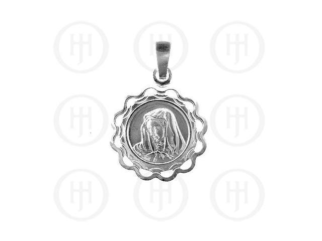 Sterling Silver Religious Mary Pendant