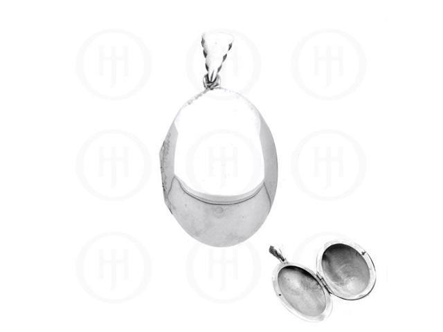 Sterling Silver Oval Locket 35mm x 52mm