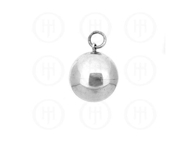 Sterling Silver Round 16mm CHIME Ball Pendant