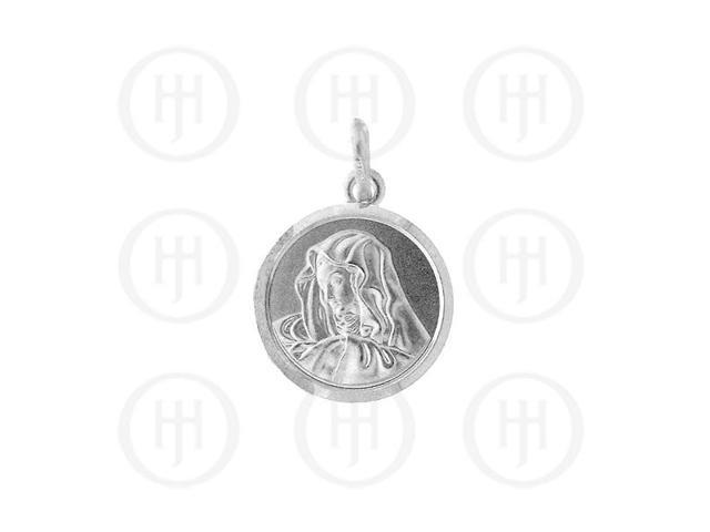 Sterling Silver Religious Pendant Virgin Mary