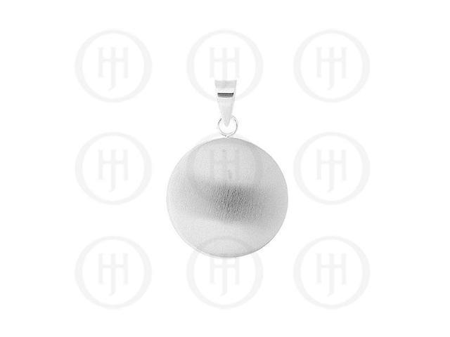 Sterling Silver Pendant Round (Satin and Plain)