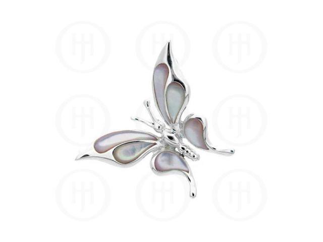 Sterling Silver Pendant MOP Butterfly