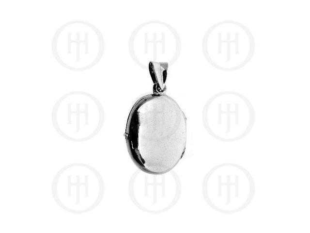 Sterling Silver Engraved Oval Locket Pendant