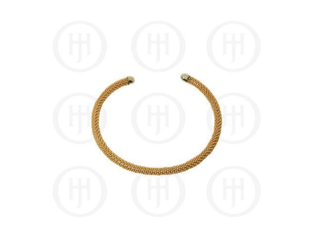 Sterling Silver Fancy Italian Tri-Colour Gold Bracelet