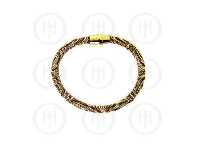 Sterling Silver Magnetic Tri-Colour Bracelet 6mm