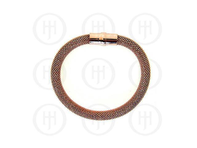 Sterling Silver Magnetic Tri-Colour Bracelet 8mm
