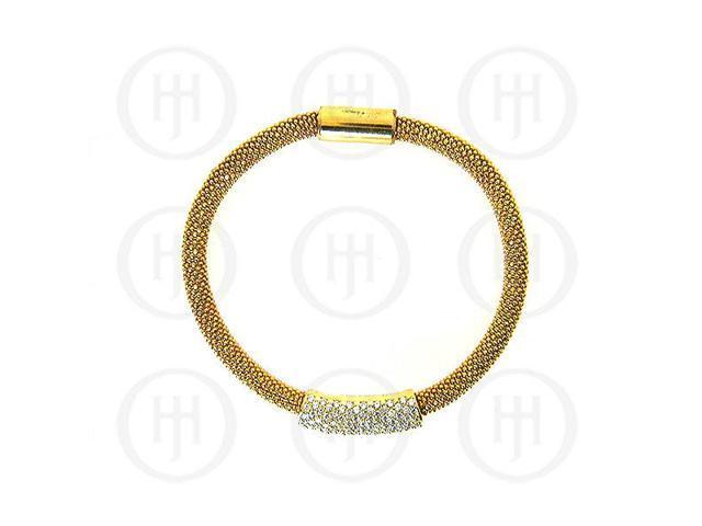 Sterling Silver Magnetic Tri-Colour CZ Bracelet