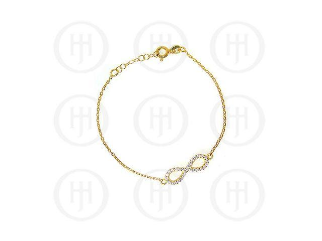 Sterling Silver Gold Colour Plated Infinity Bracelet