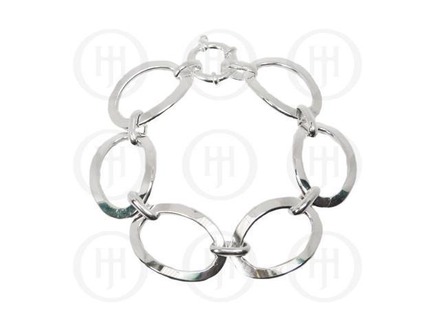 Sterling Silver Fancy Italian Hollow Bracelet