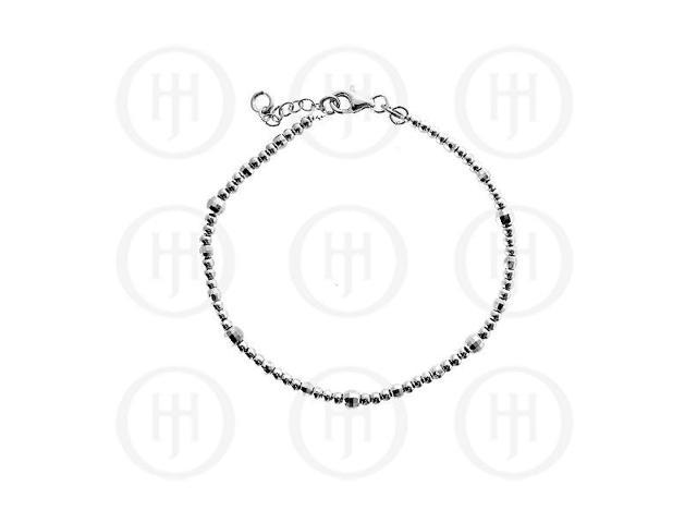 Sterling Silver Fancy Italian Rhodium Plated Bracelet