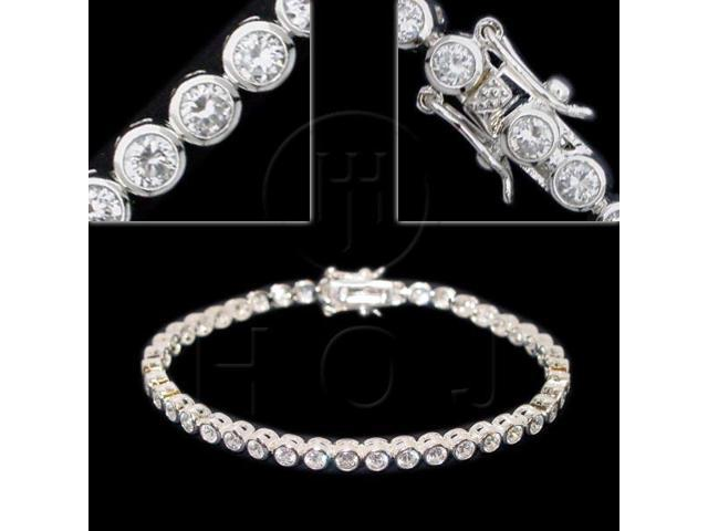 Sterling Silver CZ Tennis Bracelet 4mm