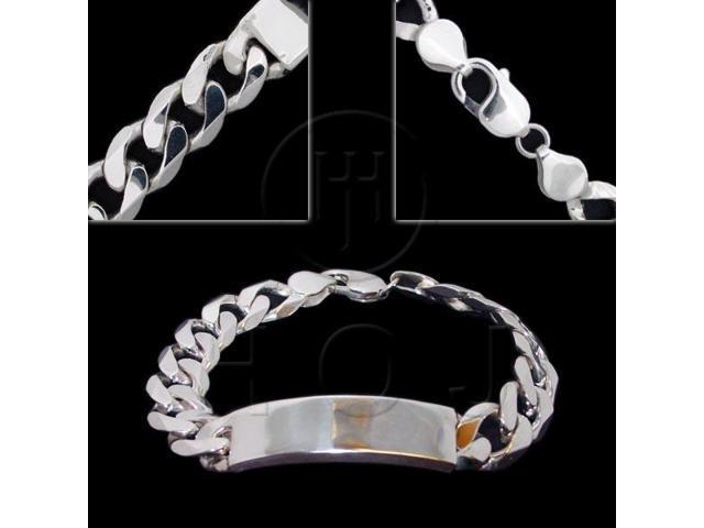 Sterling Silver ID Bracelet Curb
