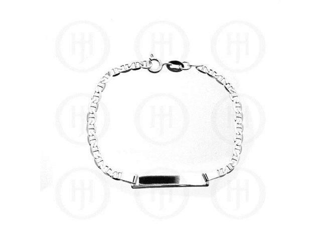 Sterling Silver ID Bracelet Flat Marina Baby
