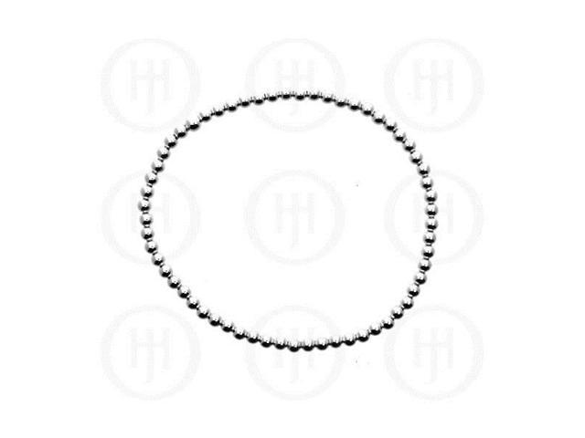 Sterling Silver Ball Bracelet 3mm
