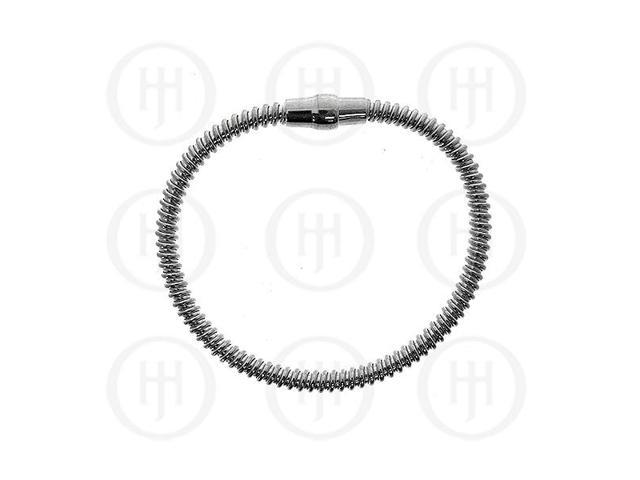 Sterling Silver Magnetic Tri-Colour Rhodium Plated Bracelet
