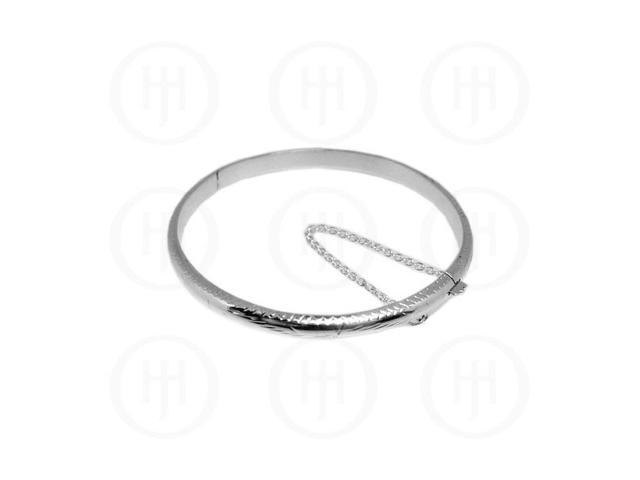 Sterling Silver Engraved Bangle 5 mm