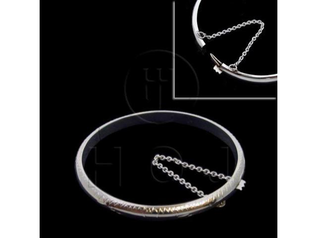 Sterling Silver Engraved Bangle Baby 50mm