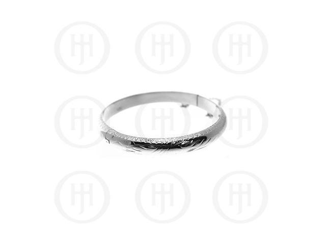 Sterling Silver Engraved Bangle Baby 55mm X 7mm