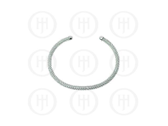 Sterling Silver Fancy Italian Tri-Colour Rodhium Plated Bracelet