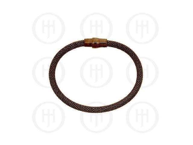Sterling Silver Magnetic Tri-Colour Bracelet 5mm