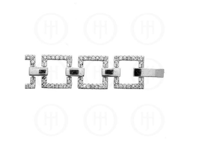 Sterling Silver Square Tennis Bracelet