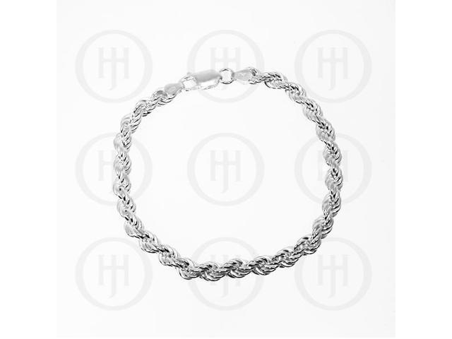 Sterling Silver Hollow Rope Bracelet 3mm