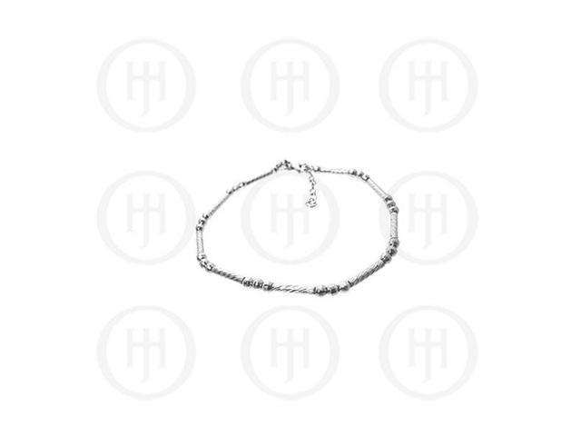 Sterling Silver Fancy Italian Rhodium Plated Bracelet