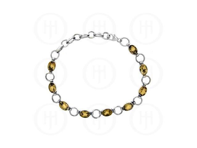 Sterling Silver Bracelet Citrine Stone