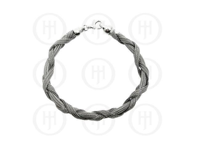 Sterling Silver Rhodium Plated Bracelet Calza