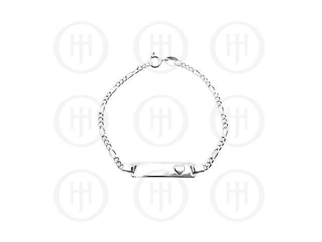 Sterling Silver ID Bracelet Figaro Baby