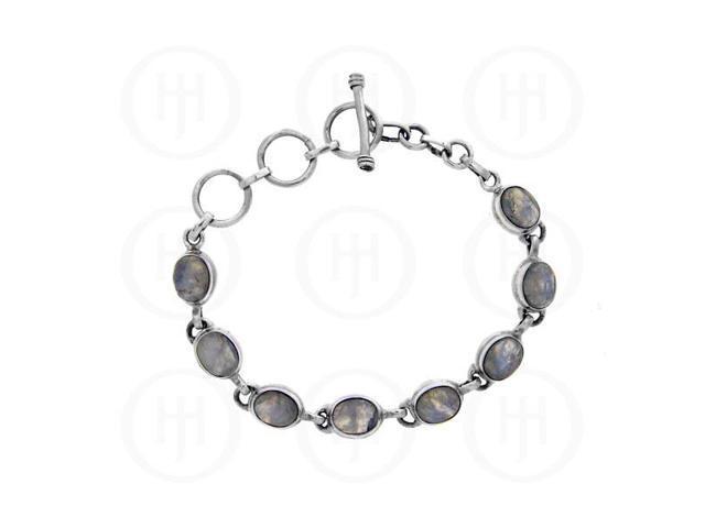 Sterling Silver Bracelet Moonstone Stone