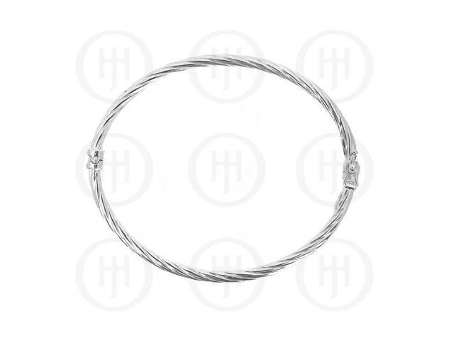 Sterling Silver Italian Bangle Roped