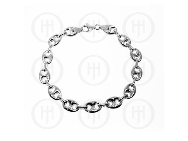 Sterling Silver Puffed Gucci 12mm Bracelet