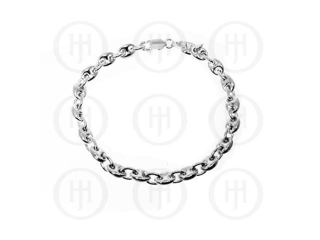 Sterling Silver Puffed Gucci 8mm Bracelet