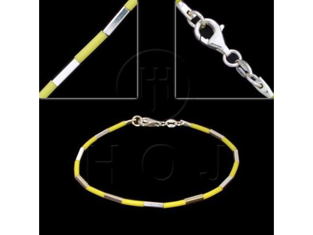 Sterling Silver Bracelet Leather 2mm 7inch -