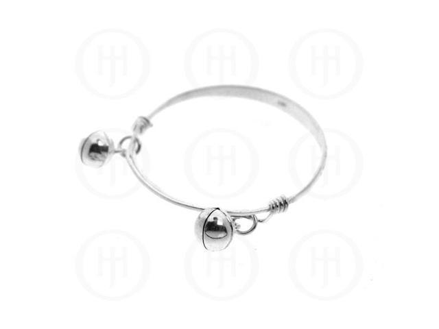 Sterling Silver Baby Bangles with Bells
