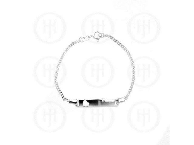 Sterling Silver ID Bracelet Curb Baby