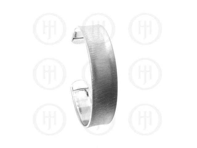Sterling Silver Italian Cuff Bangle 15mm