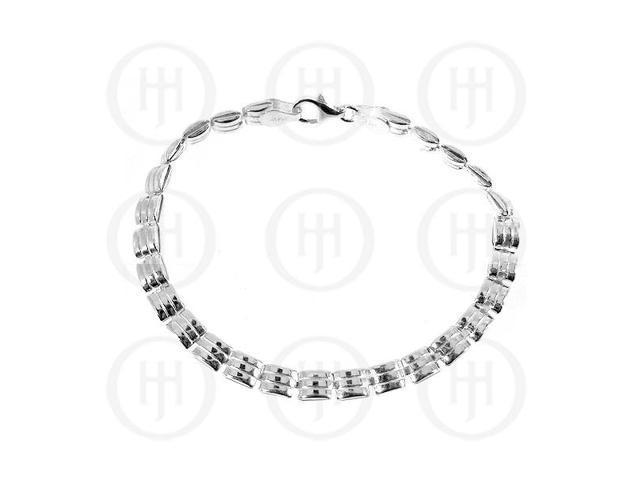 Sterling Silver Bracelet Fancy Italian
