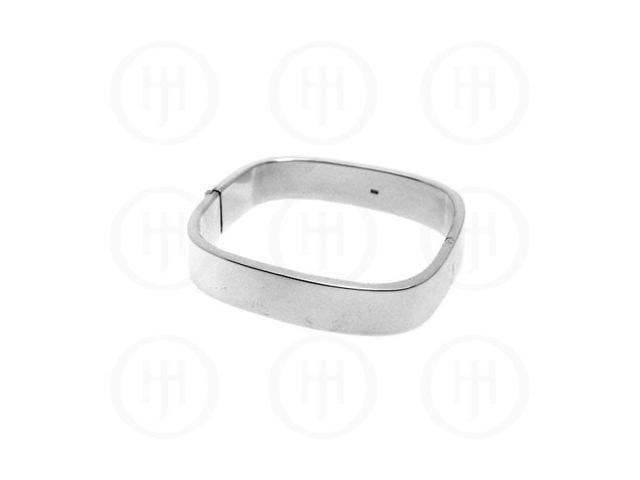 Sterling Silver Square Bangle 14mm