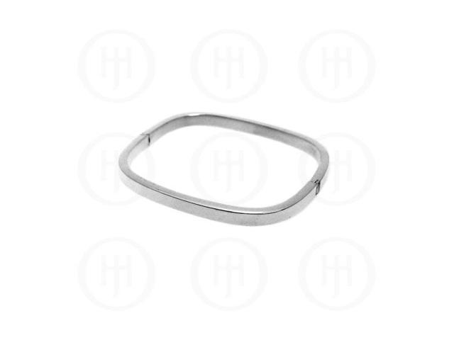 Sterling Silver Square Bangle 5mm