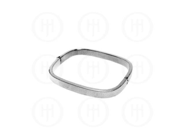 Sterling Silver Square Bangle 7mm
