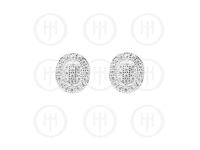 Sterling Sterling Silver Rhodium Plated Assorted CZ Stud Earrings