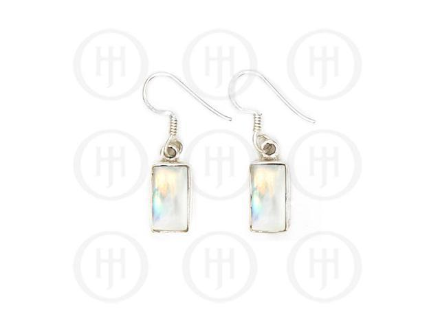 Sterling Silver Stone Earrings Moonstone