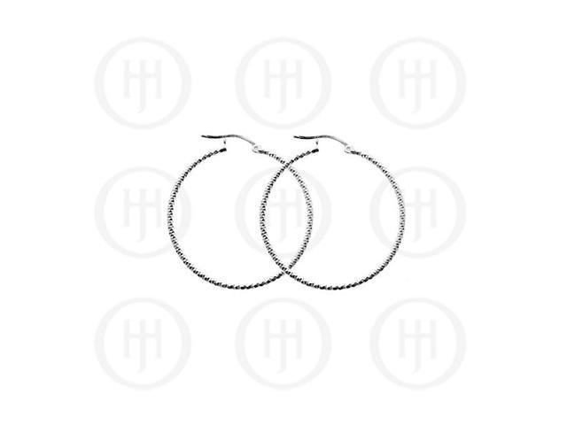 Sterling Silver D/C Hoop 25mm