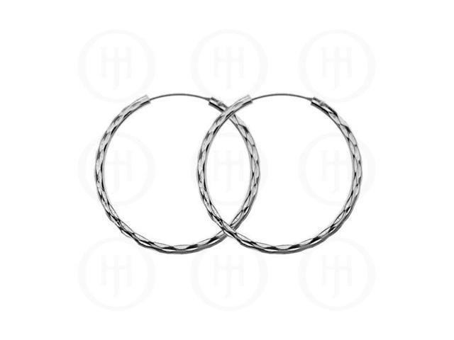 Sterling Silver D/C Hoop 30mm