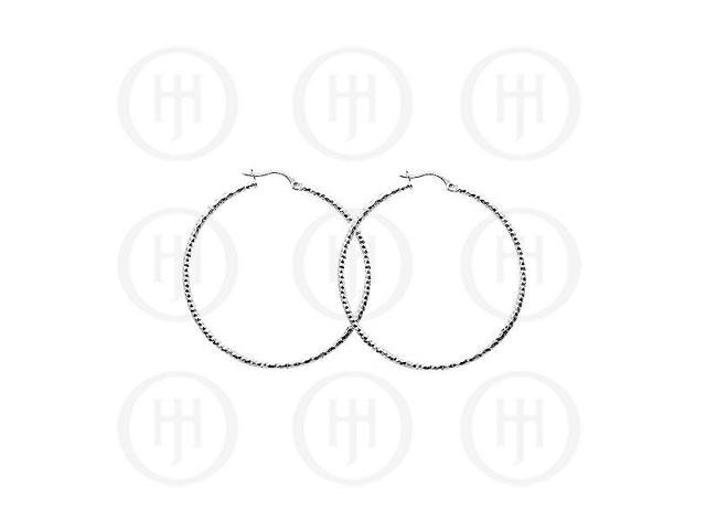 Sterling Silver D/C Hoop 30mm